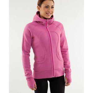 Lululemon Scuba Pink Glitter Hoodie Sweatshirt 6